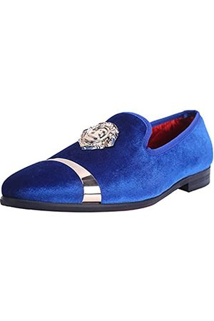 ELANROMAN Herren Samt Loafers Kleid Mode Hochzeit Party Abschlussball Schuhe