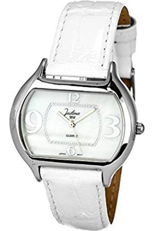 JUSTINA Analog Quarz Uhr mit Leder Armband JPB29