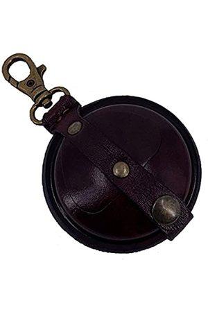 Mika 28063802 - Schlüsselanhänger klein aus Echt Leder/Sattelleder, Mini Geldbörse als Schlüsseletui mit Münzfach mit Druckknopf, Schlüsselbörse für Kleingeld in