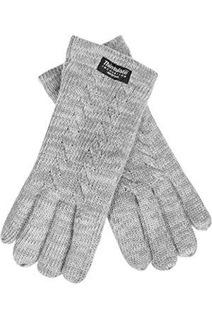 EEM Damen Strickhandschuhe FREYA mit Thinsulate Thermofutter und Zopfmuster - - Small