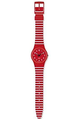 Swatch Damen-Armbanduhr Striped Berry GR154I
