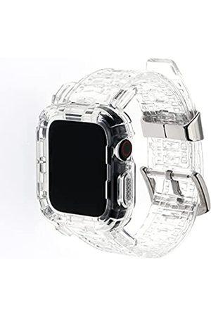 Acyan Kompatibel mit Apple Watch Band 38 mm/42 mm/40 mm/44 mm mit Hülle, Sportarmband mit Bumper Case für iWatch 6/5/4/3/2/1/SE (kristallklar