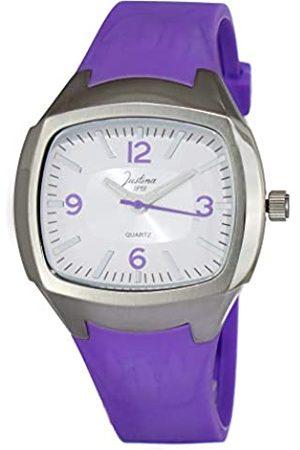 JUSTINA Analog Quarz Uhr mit Gummi Armband JPM26