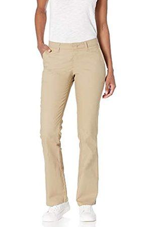 Dickies Damen Flat Front Stretch Twill Pant Slim Fit Bootcut Khakis