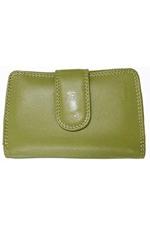 Mika 80022505 - Damengeldbörse aus Echt Leder, Portemonnaie im Hochformat, Geldbeutel mit 9 Kreditkartenfächer, 2 Scheinfächer und doppeltes Münzfach, Brieftasche in, ca. 13,5 x 9,5 x 3