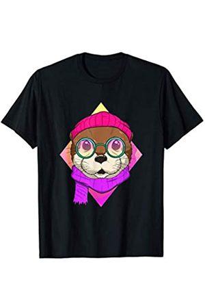 Wowsome! Hipster Otter Cute Otters Lover Gifts Ideas Men Women T-Shirt