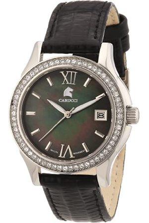 Carucci Watches Damen-Armbanduhr Analog Automatik Leder CA2188BK