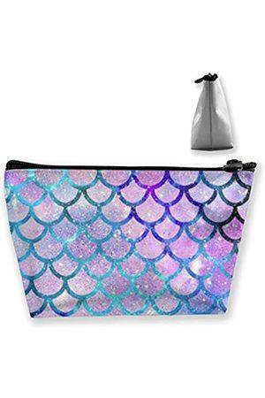 Munbroal Kosmetiktasche für Damen, Meerjungfrauen-Schuppen, Kosmetiktasche, Reise-Organizer für Mädchen, Werkzeug