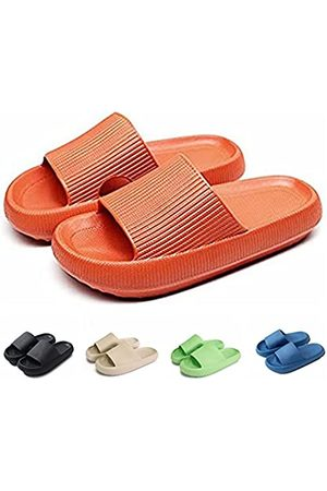 rosyclo Pillow Slides Slippers, Non-Slip Quick Drying Massage Bathroom Soft Thick Sole Sandals, Home Soled Comfortable EVA Platform for Women and Men Indoor & Outdoor Slippers (