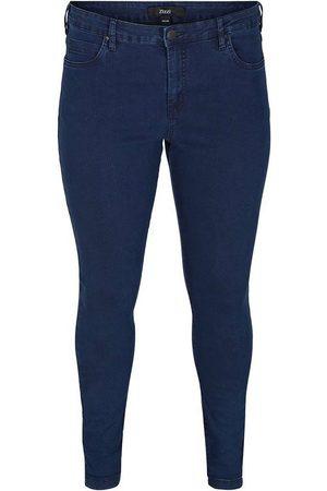 Zizzi Damen Slim - Slim-fit-Jeans »Amy« in Baumwoll-Stretch