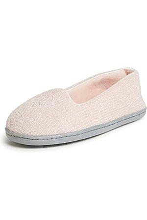 Dearfoams Damen Rebecca Chenille Closed Back Slipper, -Dusty pink X-Weit