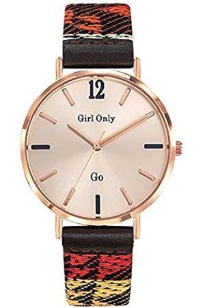 GO Girl Only Damen Analog Quarz Uhr mit Stoff Armband 699150