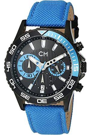 Carlo Monti Armbanduhr für Herren mit Analog-Anzeige, Chronograph mit Nylonarmband - Wasserdichte Herrenarmbanduhr mit zeitlosem