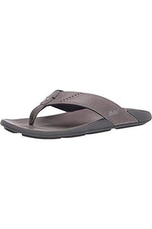 Olukai NUI Sandals - Men's Charcoal/Charcoal 9
