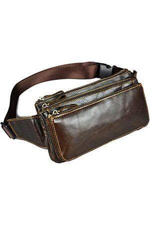 Hebetag Gürteltasche aus Leder im Vintage-Stil, für Herren und Damen, für Reisen, Wandern, Laufen, Hüftgürtel, schmal, Handy-Geldbörse, Geldbörse