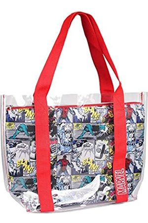 Cerdá Unisex-Kinder 2100002897 Transparente Strandtasche mit Marvel-Comic-Innenfach