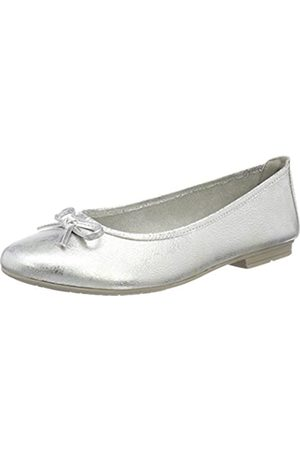 Soft Line Damen 22164 Geschlossene Ballerinas, (white/silver)