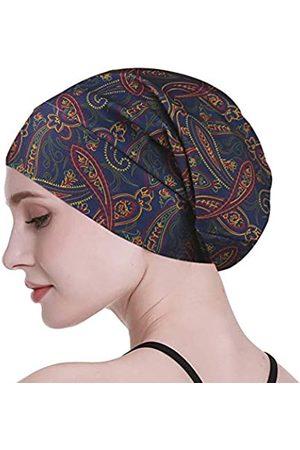 FocusCare Damen satin gefüttert schlaf slouchy cap curly slap kopfbedeckung geschenke für kraus haar eine größe passt meistens streifen