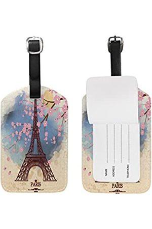 Use4 Retro Paris Eiffelturm Gepäckanhänger Reise ID Taschenanhänger für Koffer 1 Stück