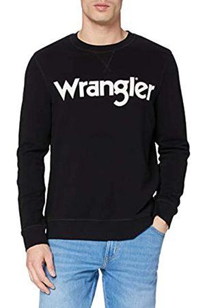 Wrangler Mens Crew Sweat Sweatshirt, Black
