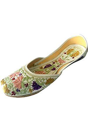 Step N Style Damen Leder Khussa Flache Schuhe Größe:6 M US