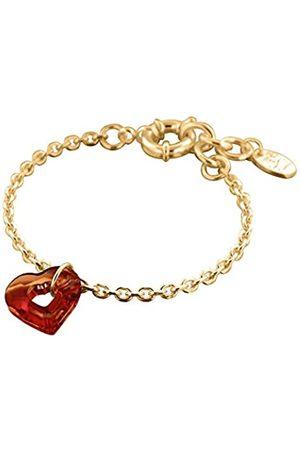 Louise Zoé Louise-Zoe Dehnbares Armband Messing Swarovski-Kristall 18 cm-Gold 4LZD0441 SW