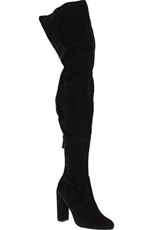Steve Madden Damen Blazinn Overknee Kurzschaft Stiefel, (Black)