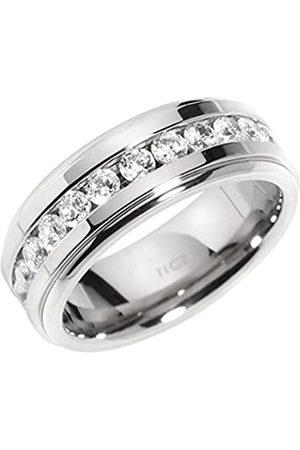 Renato Fellini Damen-Ring Titan Zirkonia weiß Brillantschliff Gr. 66 (21.0) - HEJTI-3768 RI 21
