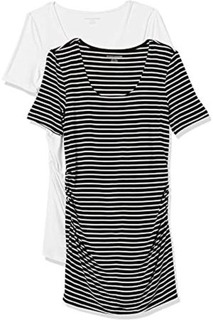 Amazon Maternity 2-Pack Short-Sleeve Rouched Scoopneck T-Shirt S