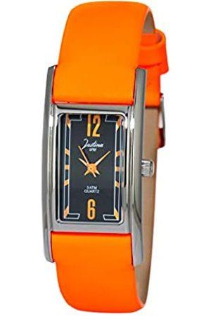 JUSTINA Analog Quarz Uhr mit Leder Armband JPN17