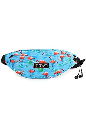 TINYAT Reise-Fanny-Tasche, Gürteltasche, sehr leicht, für Reisekasse, Werkzeugset T201, (Blue Flamingo)