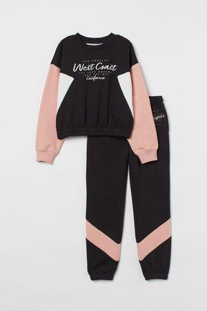 H&M Mädchen Sweatshirts - 2-teiliges Sweatshirt-Set