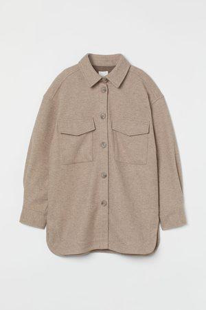H&M Damen Fleecejacken - Hemdjacke aus Fleece