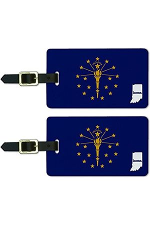 GRAPHICS & MORE Indiana in Home State Luggage Suitcase Id Tags-Flag