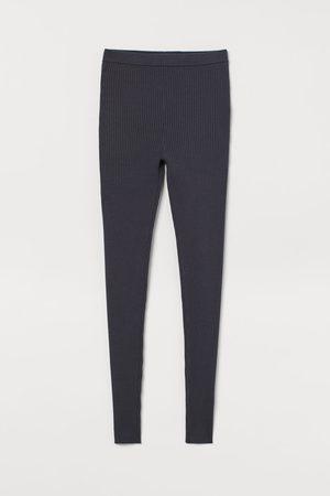 H&M Damen Leggings & Treggings - Gerippte Leggings