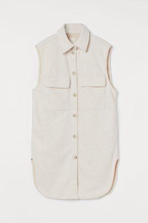 H&M Damen Sommerjacken - Ärmellose Hemdjacke
