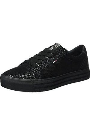 Tommy Hilfiger Damen N1385ICE 1Z2 Sneaker, (Black)