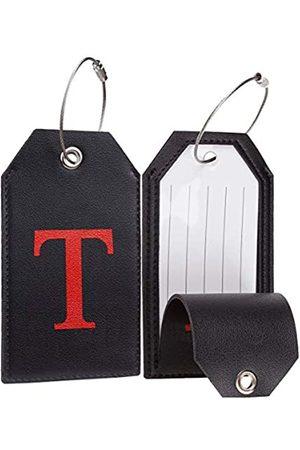 Casmonal Gepäckanhänger mit Initiale aus Leder, vollständig biegbar