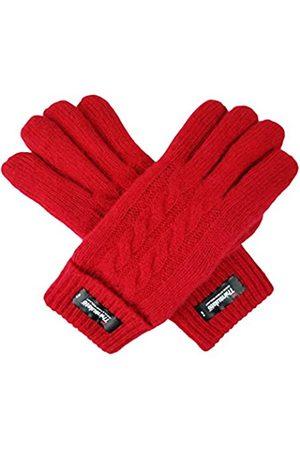 BRUCERIVER Damen Rein Wolle Strickhandschuhe mit Thinsulate Futter Kabel Design und Umschlag Manschette Größe M