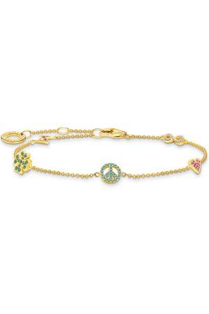Thomas Sabo Damen Armbänder - Armband mit Symbole bunt gold mehrfarbig