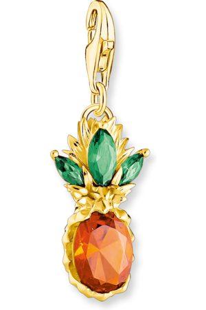 Thomas Sabo Damen Armbänder - Charm-Anhänger Ananas gold mehrfarbig