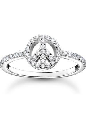 Thomas Sabo Damen Ringe - Ring Peace mit Steinen silber weiß