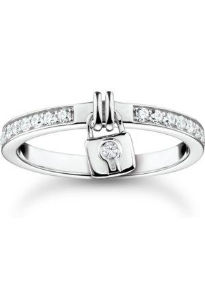 Thomas Sabo Damen Ringe - Ring Schloss silber weiß