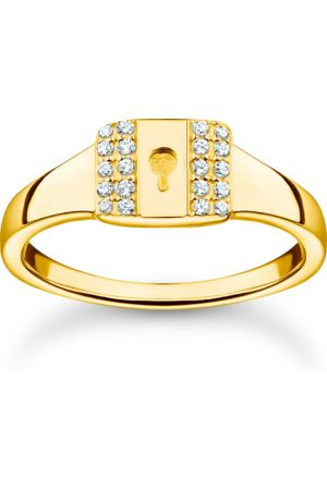 Thomas Sabo Damen Ringe - Ring Schloss gold weiß