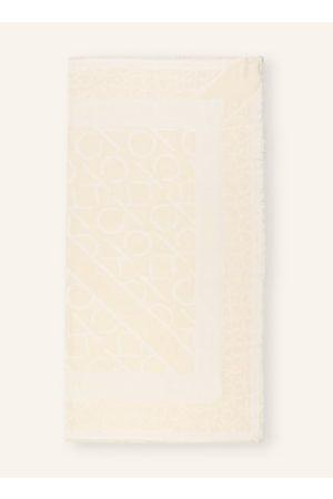 Calvin Klein Gewebte Qualität. Feine, kurze Fransen an den Kanten. Eingearbeitetes Allover-Logo. Label-Details. - 115 x 115 cm (L x B)