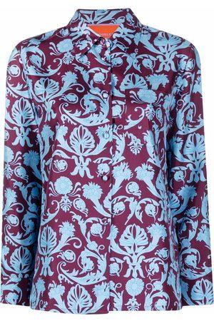 La DoubleJ Seidenhemd mit Barock-Print