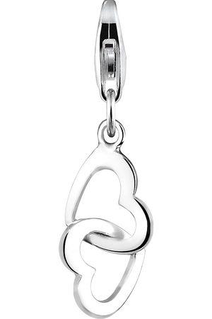 Elli Charm Doppel-Herzen Verbundenheit 925 Sterling in , Schmuck für Damen
