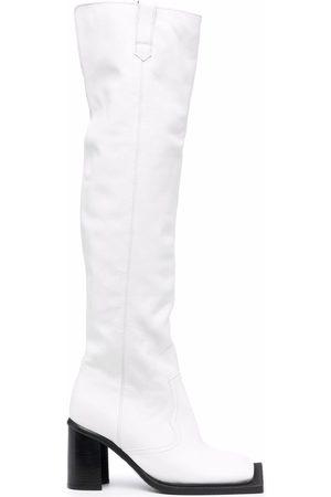 Ninamounah Damen Stiefeletten - Kniehohe Howling Stiefel 80mm