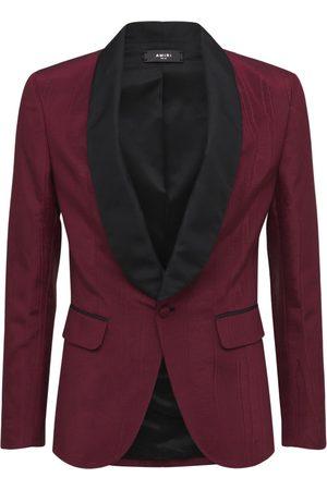 AMIRI Tuxedo Blazer W/ Satin Shawl Collar