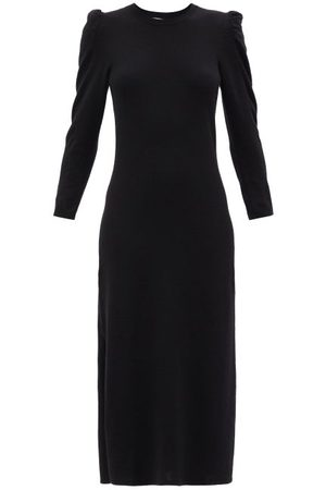 FRAME Shirred-sleeved Recycled-cashmere Sweater Dress